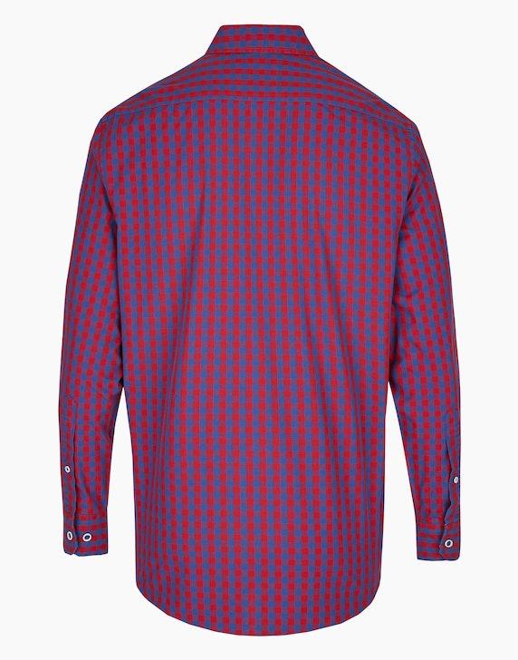 Bexleys man Freizeithemd mit Vichy-Karo und Details, MODERN FIT   [ADLER Mode]