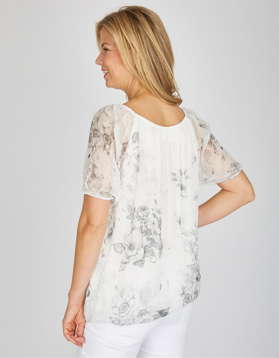 Bexleys woman Chiffon-Shirtbluse mit floralen Motiven   [ADLER Mode]