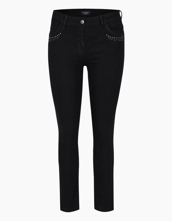 Bexleys woman Power-Stretch-Röhrenjeans in Black Denim | [ADLER Mode]