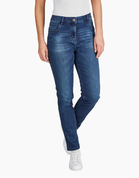 Bexleys woman Jeans mit Ziernieten an den Taschen | [ADLER Mode]