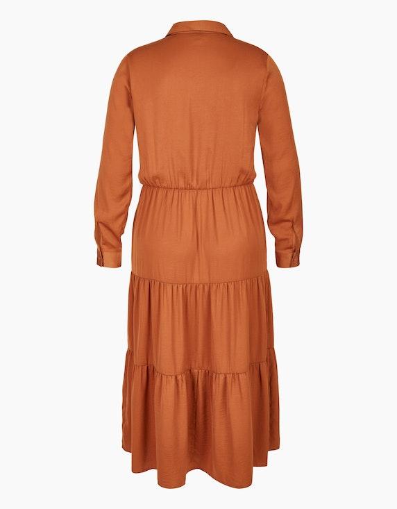 Bexleys woman Satin-Stufenkleid  mit Hemdkragen | [ADLER Mode]