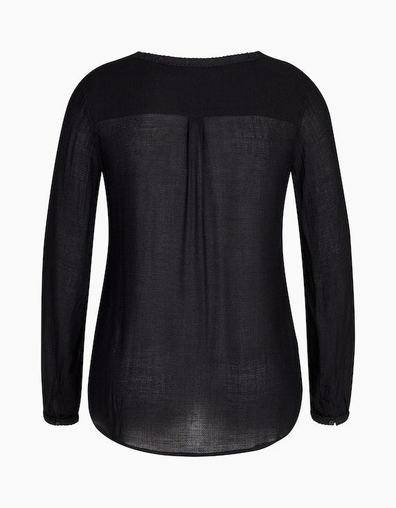 Bexleys woman Jacquard-Bluse mit Häkelspitzen-Besatz   [ADLER Mode]