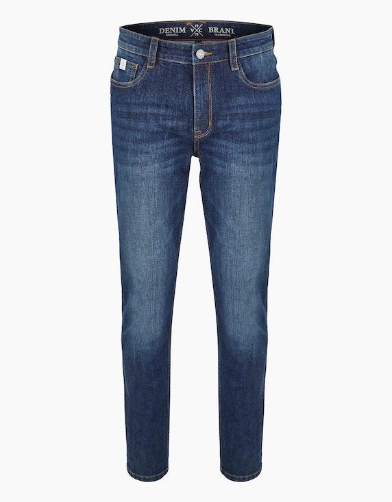 Via Cortesa Jeans im 5-Pocket Style in Blue Denim | [ADLER Mode]