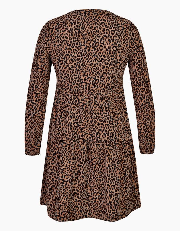 Volant-Kleid mit Leo-Print in  - MY OWN articleID: 12866 colorID: 14568