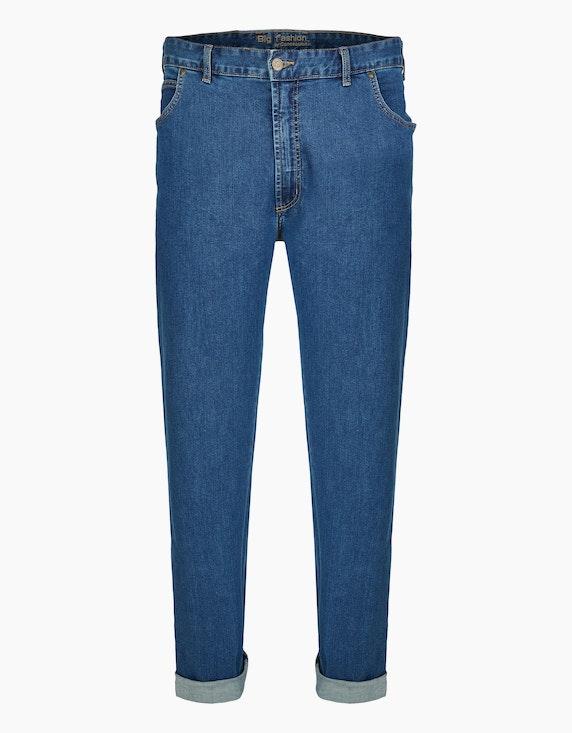 Big Fashion Basic 5-Pocket Jeans in Blau | [ADLER Mode]