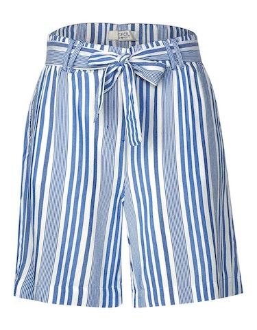 Hosen - sommerliche Streifen Shorts mit Gürtel, 33  - Onlineshop Adler