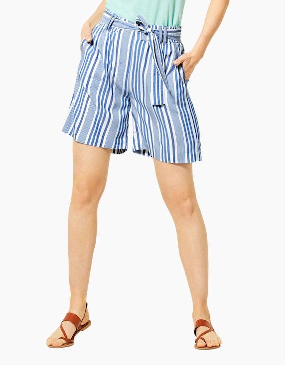 CECIL sommerliche Streifen-Shorts mit Gürtel | ADLER Mode Onlineshop