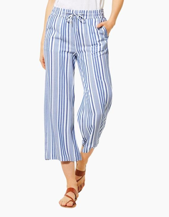 CECIL weite Streifen-Hose im Culotte-Style, reine Viskose   ADLER Mode Onlineshop
