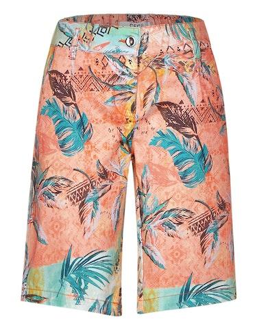 Hosen - Paperbag Shorts mit floralem Muster, 32  - Onlineshop Adler