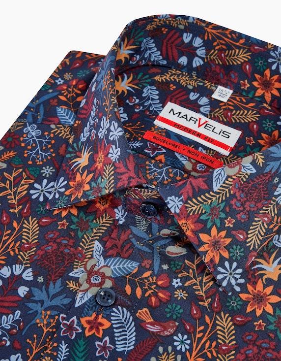 Marvelis Dresshemd im Blätterdessin, MODERN FIT | ADLER Mode Onlineshop