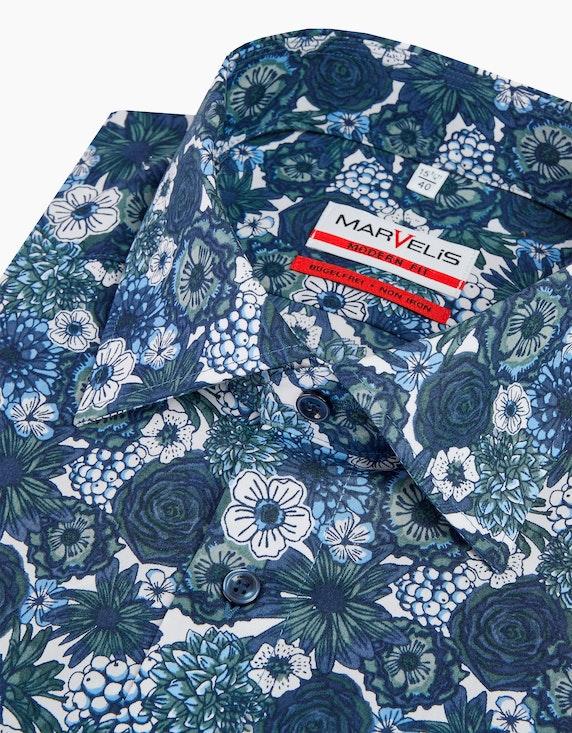 Marvelis Dresshemd mit floralem Print, MODERN FIT   ADLER Mode Onlineshop
