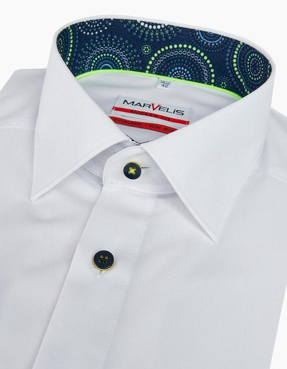 Marvelis Dresshemd langarm mit aktuellen Neondetails, MODERN FIT | ADLER Mode Onlineshop