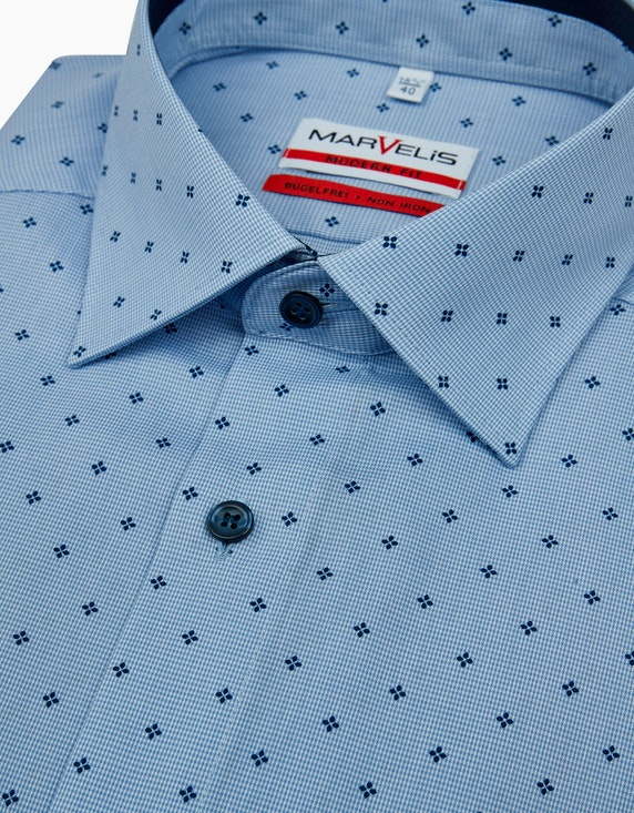 Marvelis Dresshemd, gemustert, extra langer Arm, BÃœGELFREI | ADLER Mode Onlineshop