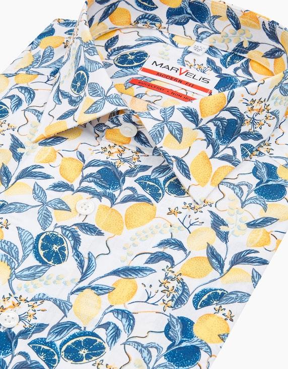 Marvelis Dresshemd, kurzarm, bedruckt, MODERN FIT | ADLER Mode Onlineshop