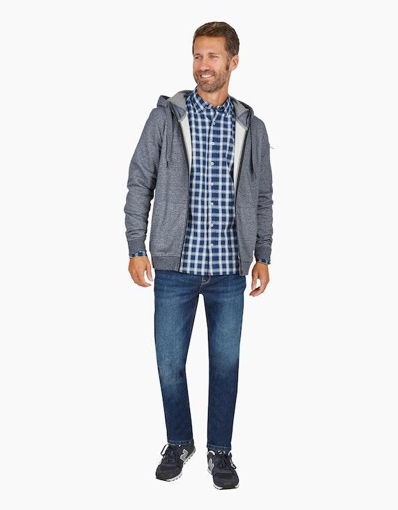 Via Cortesa kariertes Freizeithemd in Blau/Weiß | ADLER Mode Onlineshop