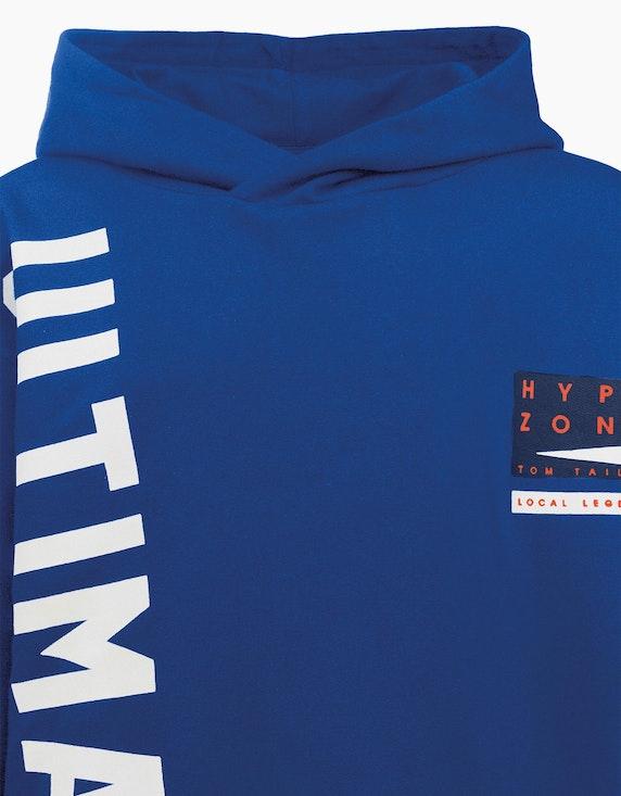 Tom Tailor Boys Sweatshirt mit Kapuze und Wording-Print | ADLER Mode Onlineshop