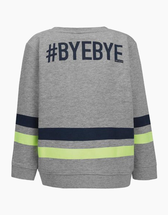Tom Tailor Mini Boys Sweatshirt mit Streifen und Wording | ADLER Mode Onlineshop