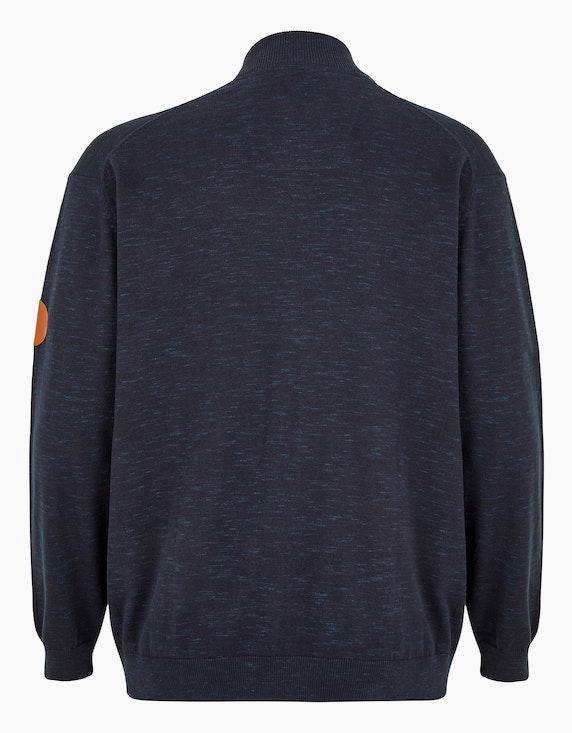 Big Fashion leicht melierte Strickjacke mit Patch-Details   ADLER Mode Onlineshop