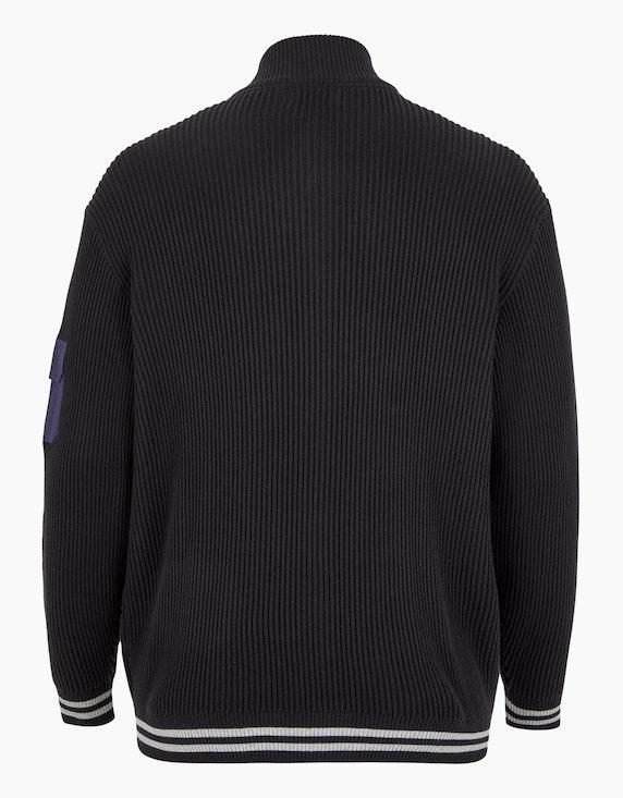 Big Fashion gerippte Strickjacke mit Details   ADLER Mode Onlineshop