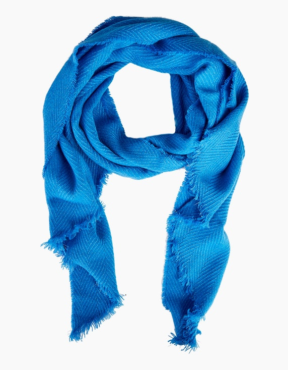 Viventy Schimmernder Schal mit Fransen in Blau   ADLER Mode Onlineshop