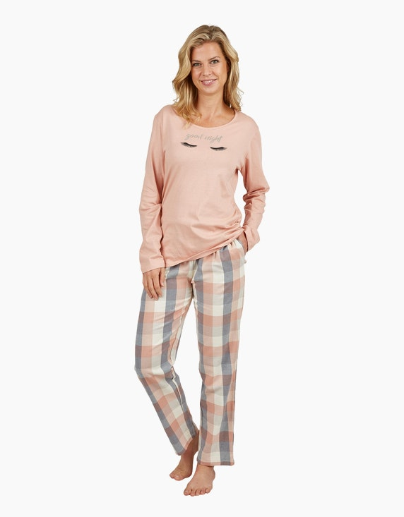 Bexleys woman Pyjama mit Flanellhose | ADLER Mode Onlineshop