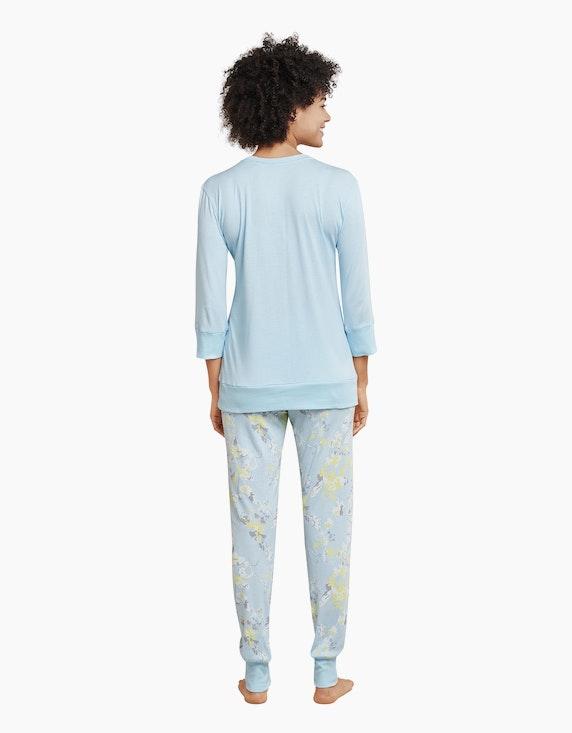 Schiesser Pyjama mit Ärmeln in 3/4 Länge | ADLER Mode Onlineshop