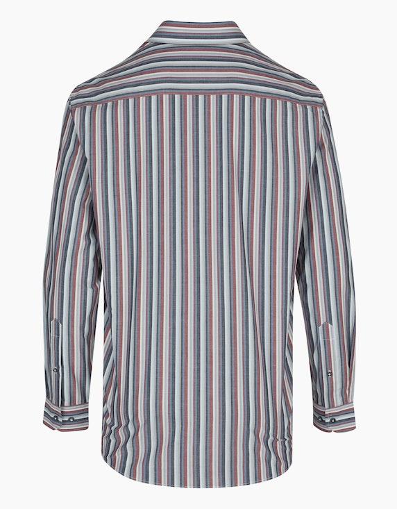 Bexleys man Gestreiftes Hemd mit Bruststickerei, REGULAR FIT   ADLER Mode Onlineshop