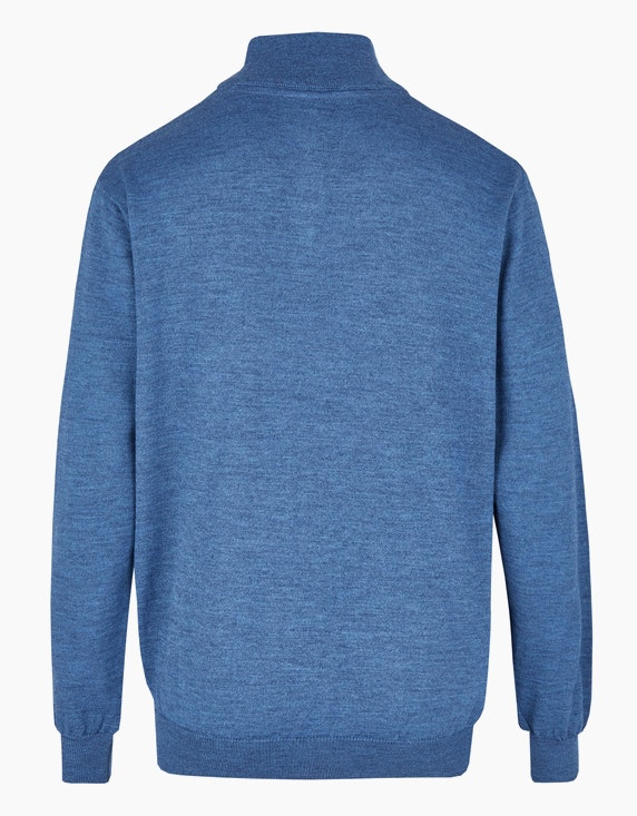 Bexleys man Pullover mit Stehkragen und Reißverschluss   ADLER Mode Onlineshop