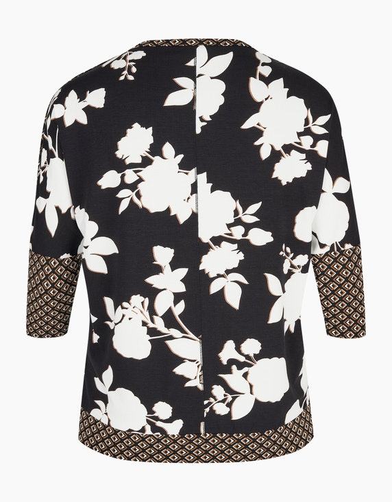 VIA APPIA DUE Shirt mit Flügelärmel im floralen Alloverprint   ADLER Mode Onlineshop