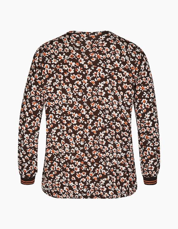 VIA APPIA DUE Langarmshirt mit floralem Muster   ADLER Mode Onlineshop