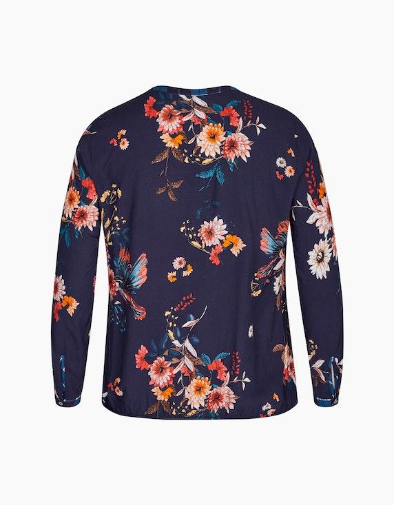 VIA APPIA DUE Schlupfbluse mit Blumen und Karo   ADLER Mode Onlineshop