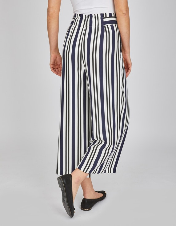 Bexleys woman Culotte mit Bindegürtel und Streifen   ADLER Mode Onlineshop