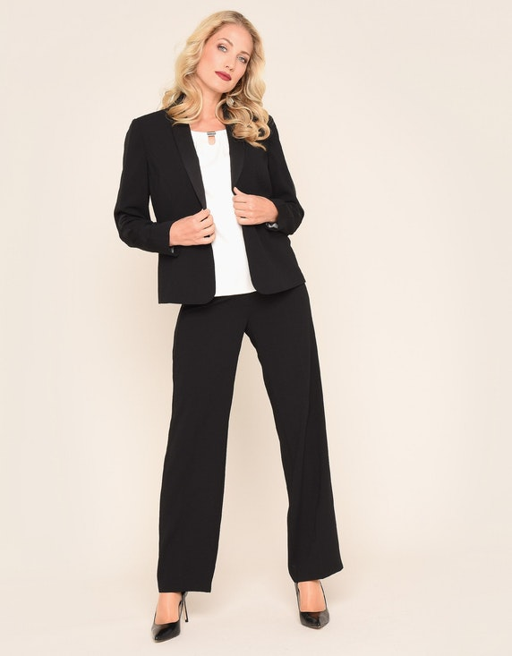 Bexleys woman 1-Knopf-Blazer mit Jacquard-Futter | ADLER Mode Onlineshop
