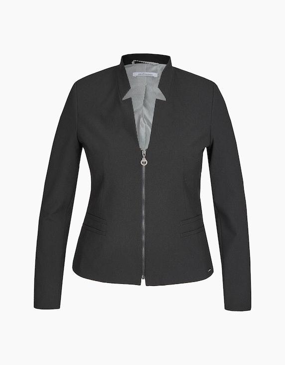 Steilmann Woman Blazer mit Reißverschluss in Schwarz   ADLER Mode Onlineshop