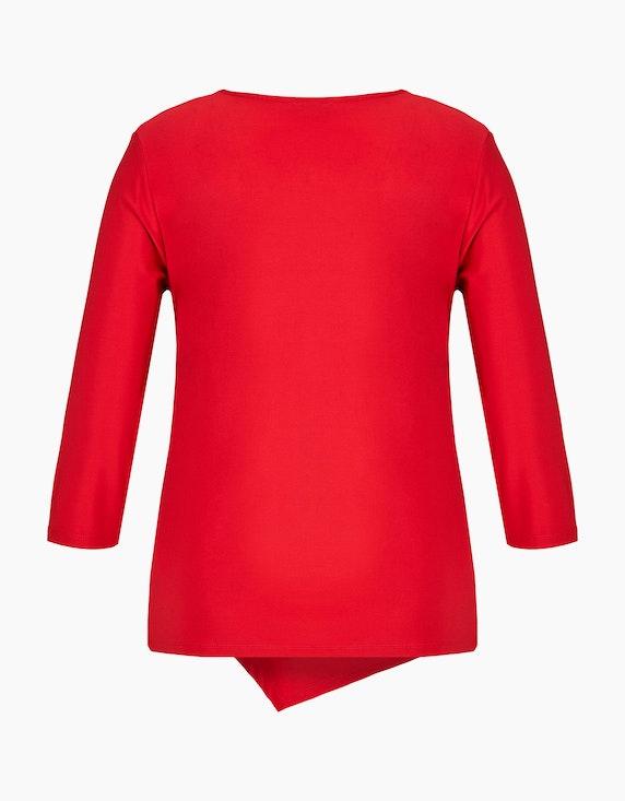 KS. selection Shirt mit Knotendrapierung und Ärmeln in 3/4 Länge   ADLER Mode Onlineshop