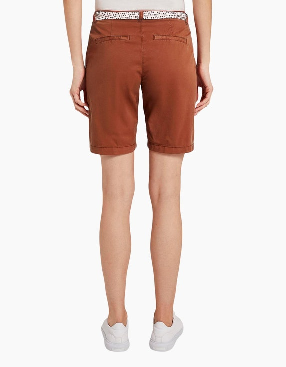 Tom Tailor Chino-Bermuda-Shorts mit Stoffgürtel   ADLER Mode Onlineshop