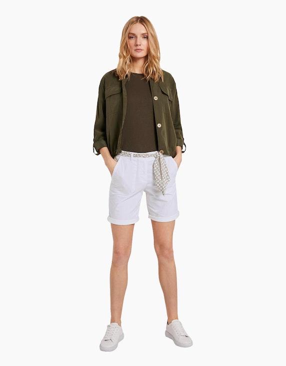 Tom Tailor Chino-Bermuda-Shorts mit Stoffgürtel | ADLER Mode Onlineshop