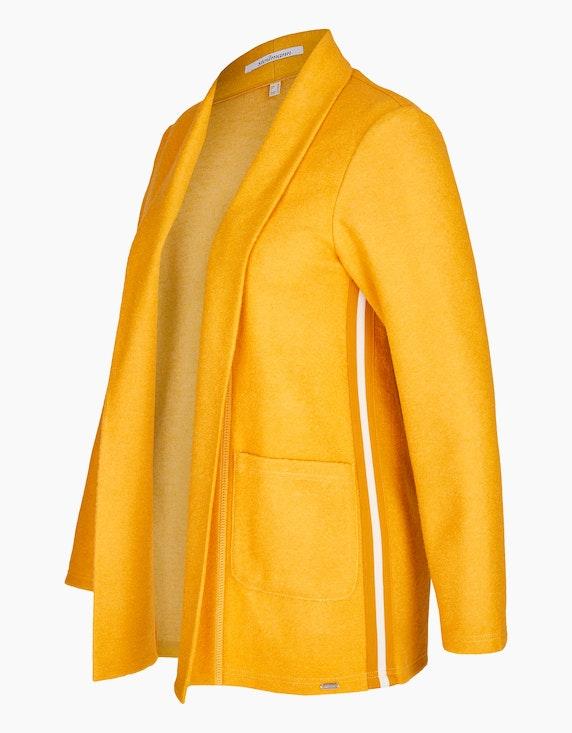 Steilmann Woman Kochwoll-Jacke mit Schalkragen und Galonstreifen | ADLER Mode Onlineshop