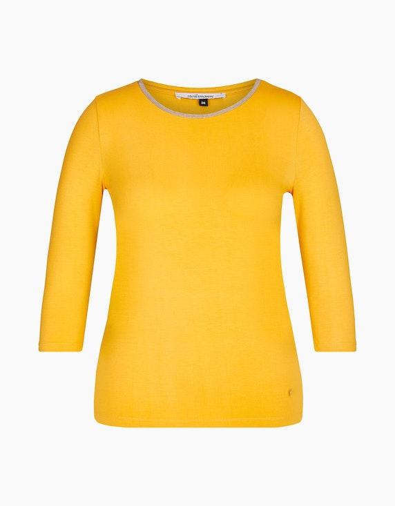 Steilmann Woman Shirt mit Kugelketten-Besatz am Ausschnitt in Gelb | ADLER Mode Onlineshop
