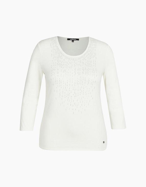 Steilmann Woman Shirt mit Strass und Ärmeln in 3/4 Länge in Cremeweiß   ADLER Mode Onlineshop