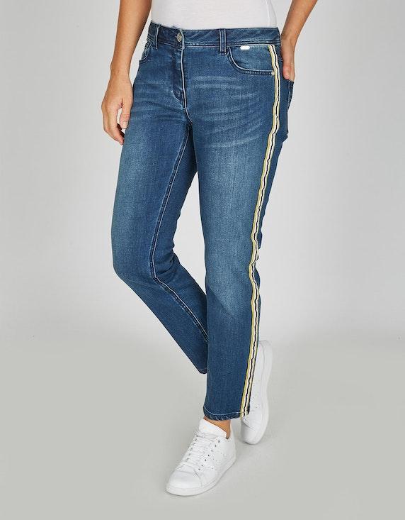 Steilmann Woman Jeans mit Galonstreifen in Blue Denim | ADLER Mode Onlineshop
