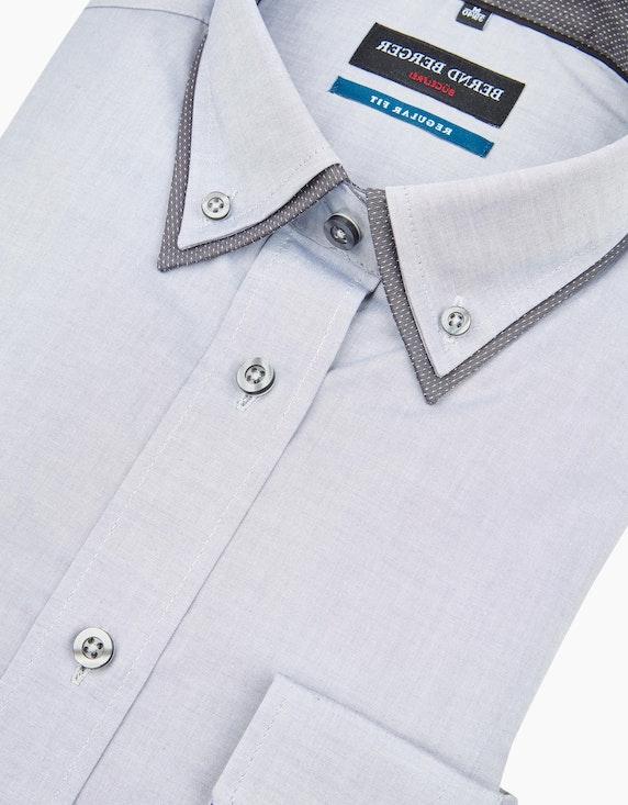 Bernd Berger Dresshemd in chambray mit Doppelkragen, REGULAR FIT | ADLER Mode Onlineshop