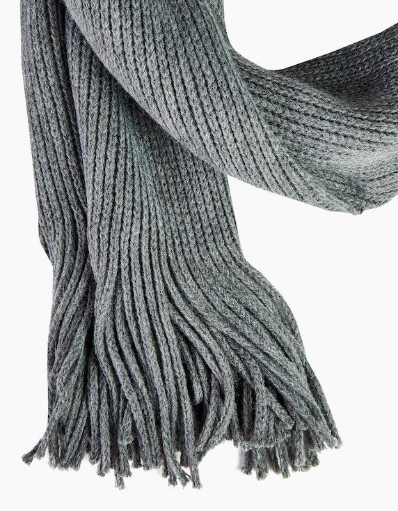 Bexleys man Einfarbiger Strickschal mit Fransen   ADLER Mode Onlineshop