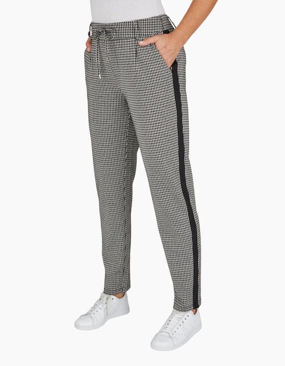 Bexleys woman Joggpants mit klassischem Hahnentritt-Muster | ADLER Mode Onlineshop