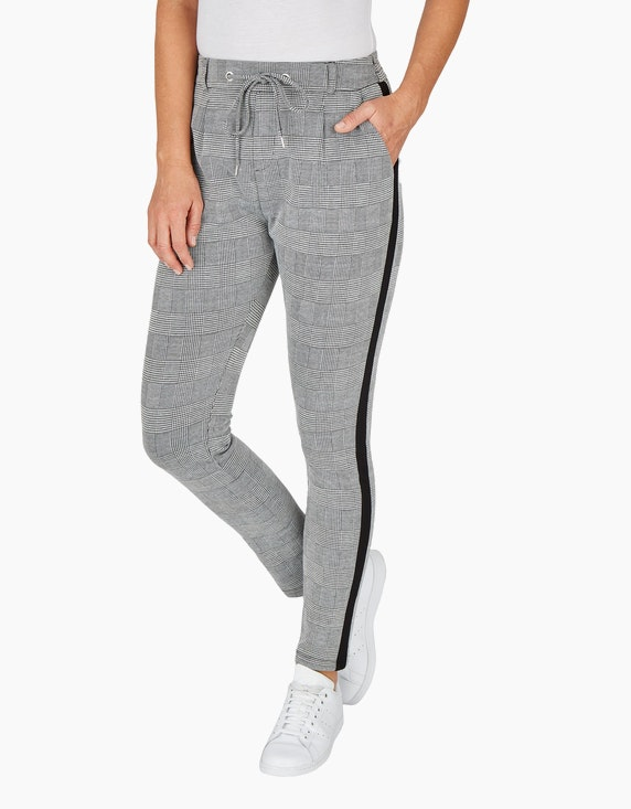 Bexleys woman Joggpants mit Glencheck-Muster | ADLER Mode Onlineshop