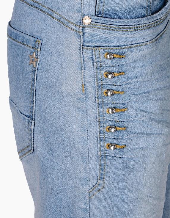 MY OWN Jeans, 5-Pocket mit Ziersteinen und CrashOptik   ADLER Mode Onlineshop