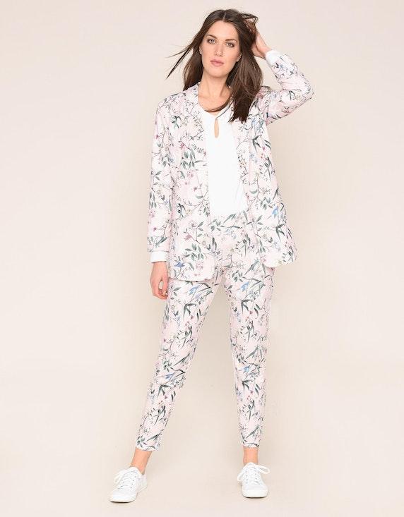 MY OWN Jersey-Blazer mit floralem Druck | ADLER Mode Onlineshop