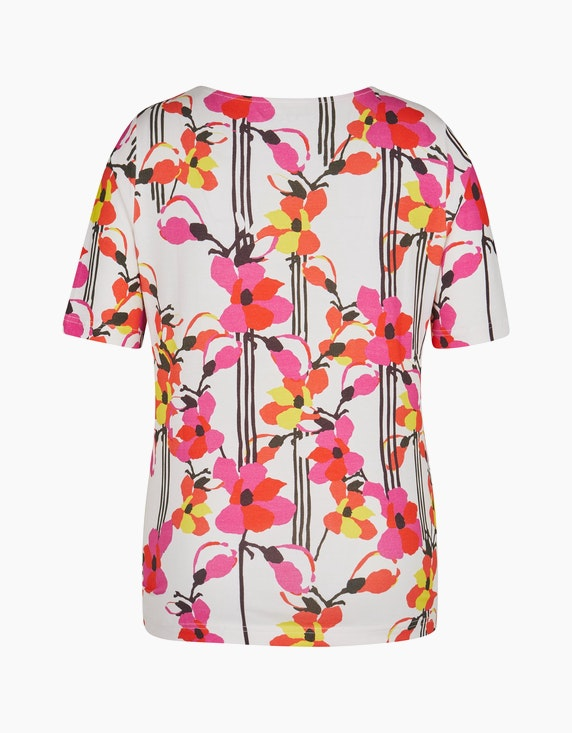 Roses & Angels Kurzarmshirt mit floralem Druck   ADLER Mode Onlineshop