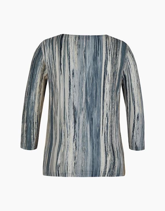 Malva Shirt mit Streifen-Dessin und Ärmeln in 3/4 Länge | ADLER Mode Onlineshop