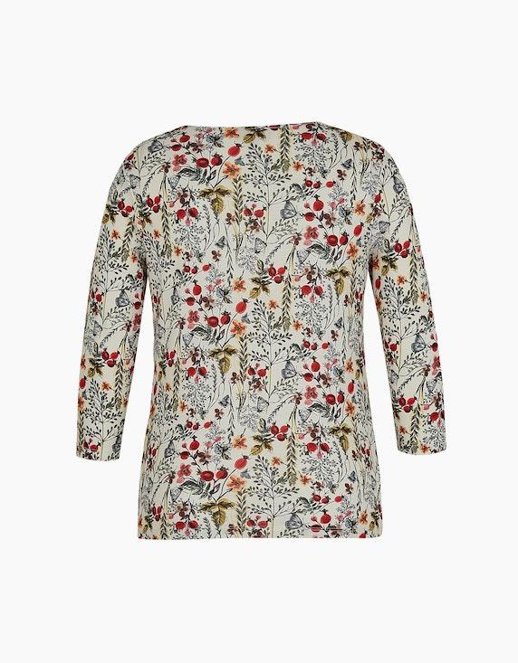 Malva Shirt mit floralem Druck und Ärmeln in 3/4 Länge | ADLER Mode Onlineshop